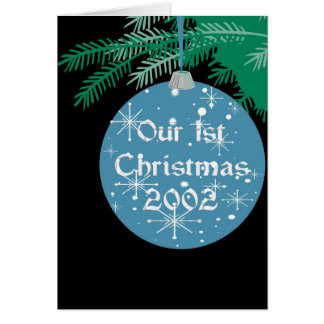 Our 1st Christmas Memories, 2002 Card