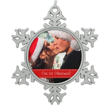 Our 1st Christmas Snowflake Pewter Christmas Ornament