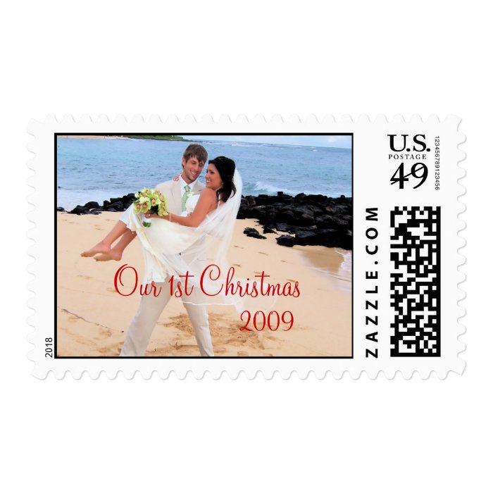 Our 1st Christmas Photo Wedding Stamp -