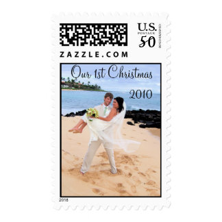 Our 1st Christmas Photo Wedding Stamp -2010