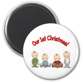 Our 1st Christmas (Quadruplets) Refrigerator Magnets