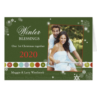 Our 1st Christmas Together Chic Couple Photo Card