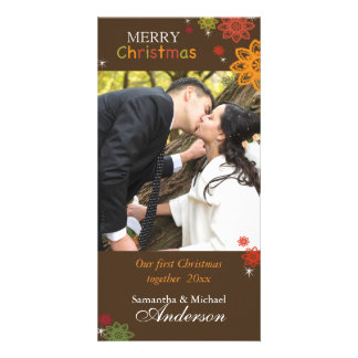 Our 1st Christmas Together Lovely Couple Photo Card