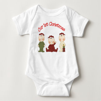 Our 1st Christmas (Triplets) Baby Bodysuit