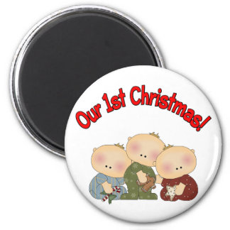 Our 1st Christmas (Triplets) Magnets