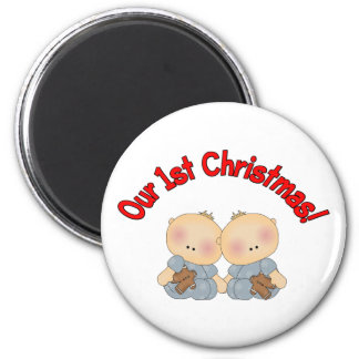 Our 1st Christmas (Twins) Magnet