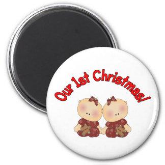 Our 1st Christmas (Twins) Fridge Magnet
