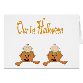 Our 1st HALLOWEEN TWINS Card