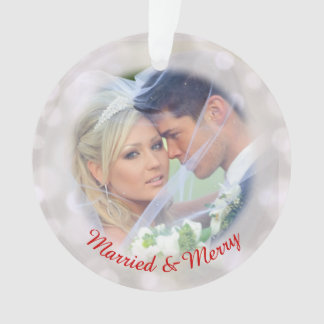 Our 1st Holiday Wedding Photo Ornament