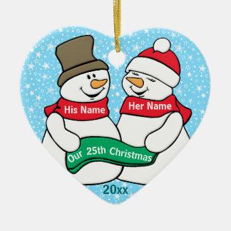 Our 25th Christmas Ceramic Ornament