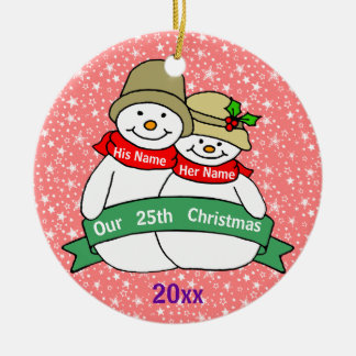 Our 25th Christmas Ornaments