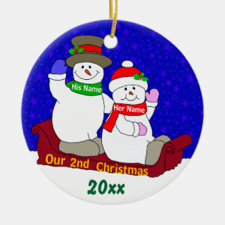 2nd Anniversary Ornaments & Keepsake Ornaments | Zazzle
