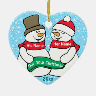 Our 30th Christmas Ceramic Ornament
