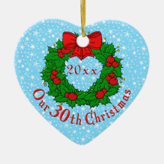Our 30th Christmas Christmas Tree Ornaments