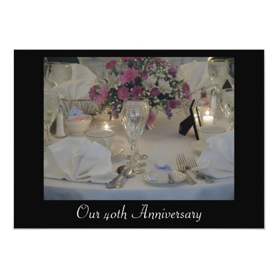 Our 40th Anniversary Card