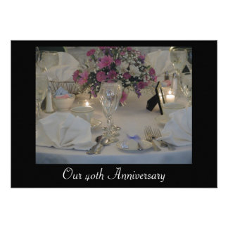 Our 40th Anniversary Personalized Invitations