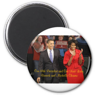 Our 44th President and Our First Lady 2 Inch Round Magnet