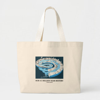 Our 4 5 Billion Year History Geological Time Canvas Bags