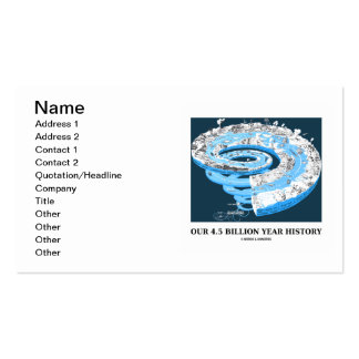 Our 4.5 Billion Year History (Geological Time) Business Card