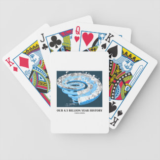 Our 4.5 Billion Year History (Geological Time) Bicycle Poker Cards