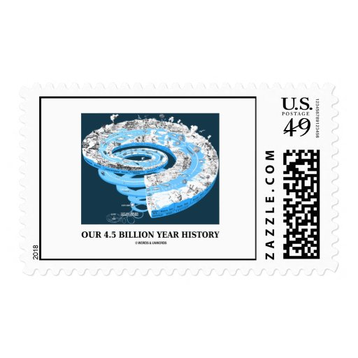Our 4.5 Billion Year History (Geological Time) Stamp