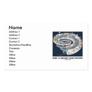 Our 4.5 Billion Year History (Geological Timeline) Double-Sided Standard Business Cards (Pack Of 100)