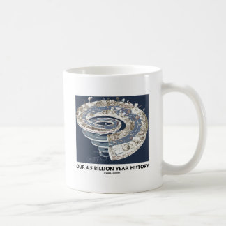 Our 4.5 Billion Year History (Geological Timeline) Mugs