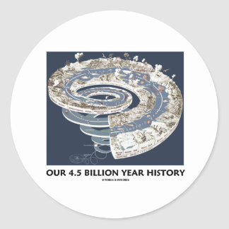 Our 4.5 Billion Year History (Geological Timeline) Round Stickers