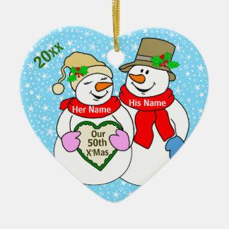 Our 50th Christmas Ceramic Ornament