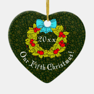 Our 5th Anniversary Christmas Ornaments