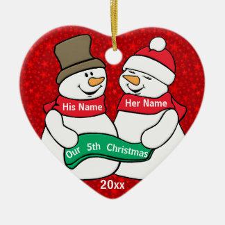 Our 5th Christmas Ceramic Ornament
