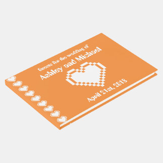 Our 8-Bit Hearts in Orange Guest Book