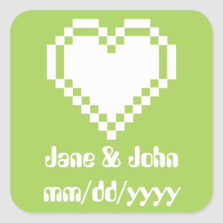 Our 8-Bit Hearts in Peridot Sticker