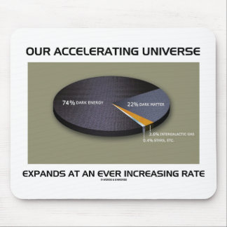 Our Accelerating Universe Expands Ever Increasing Mouse Pad