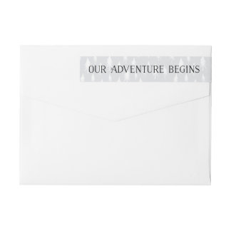 Our Adventure Begin | Save the Date Return Address Wrap Around Label