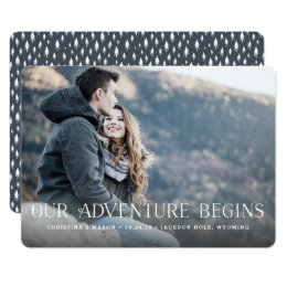 Our Adventure Begins | Photo Save the Date Card