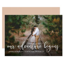Our Adventure Begins Save the Date Photo Card