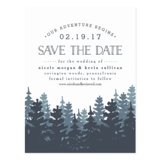 Our Adventure Begins | Save the Date Postcard
