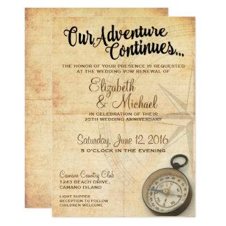 Our Adventure Continues Anniversary Invitation