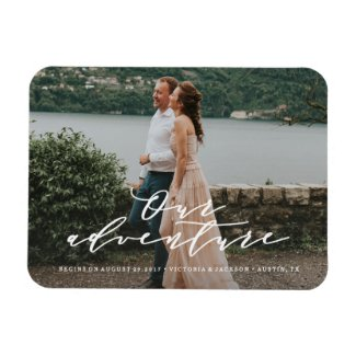 Our Adventure Save the Date Photo Magnet