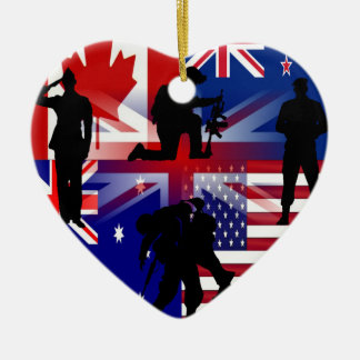 Our Afghanistan of veteran 5 nation Ceramic Ornament