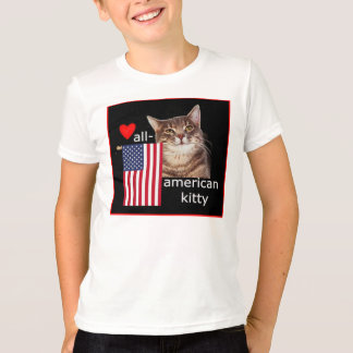Our All=American Kitty waves the flag! T-Shirt