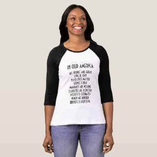 This Is What A Feminist Looks Like Womans 3//4 Sleeve T Shirt Raglan