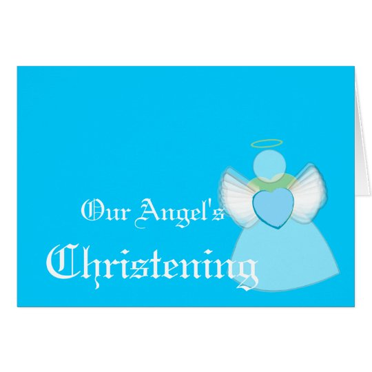 Our Angel's Christening For Boys-Customize Card