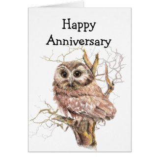 Our Anniversary Owl always Love You Greeting Card