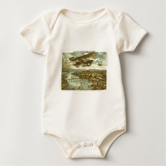 Our Army Attacks from Sky Water and Shore Baby Bodysuit