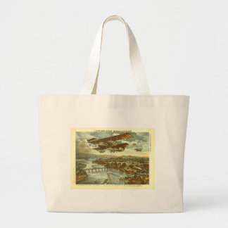 Our Army Attacks from Sky Water and Shore Tote Bags