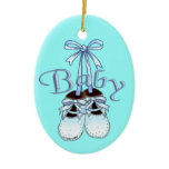 Our Baby Boy Shoes Ceramic Ornament