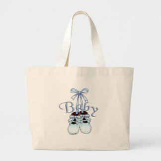 Our Baby Boy Shoes Large Tote Bag