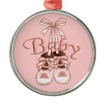Our Baby Girl Shoes Metal Ornament